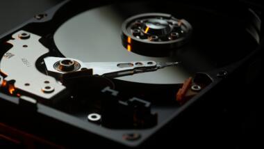 Innenansicht einer Festplatte