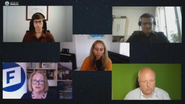 Screenshot der Raumschiff-analog-Videokonferenz