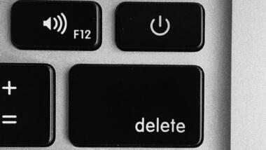 Delete Button auf einer Tastatur