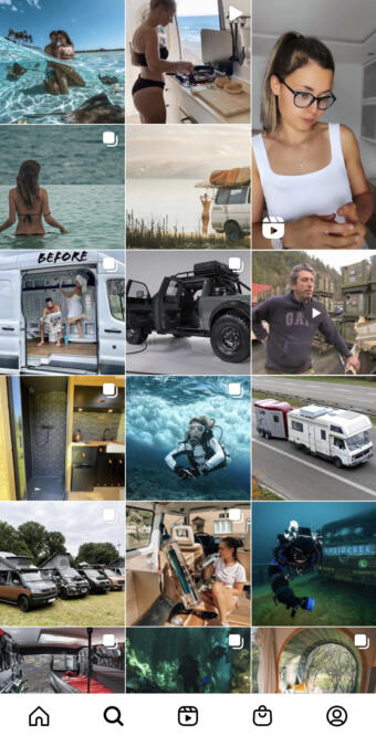 Explore Page bei Instagram