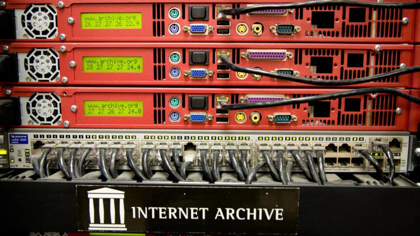 Ein Server des Internet Archive