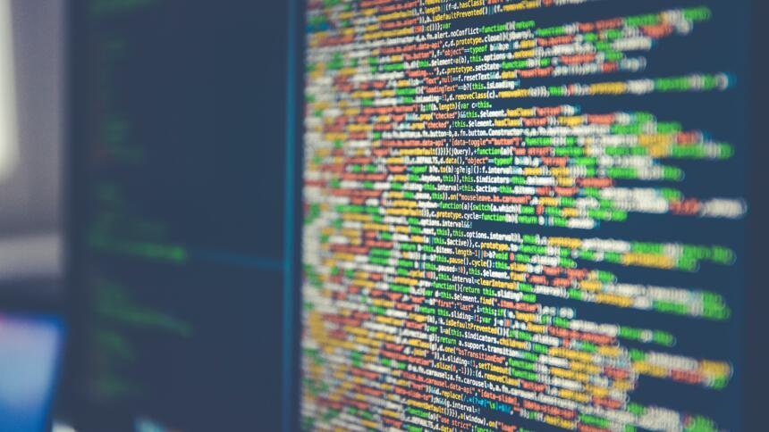 Eine Datenreihe auf einem Bildschirm in verschiedenen Farben
