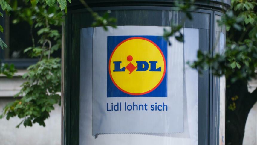 Lidl-Werbeplakat