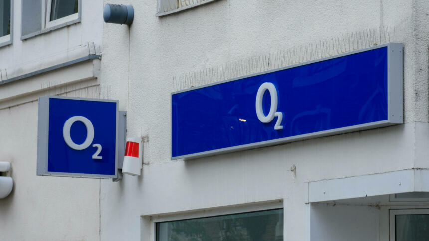 O2-Leuchtreklame