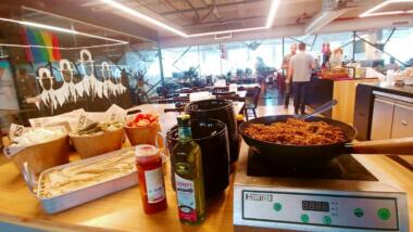 Büro mit Catering