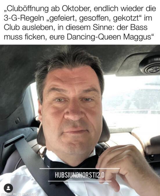 Ein Meme, das den bayrischen Ministerpräsidenten Markus Söder zeigt