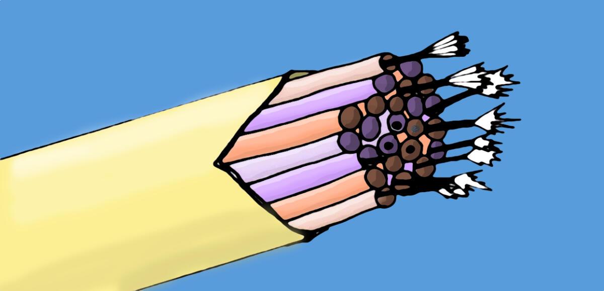 gezeichnetes Glasfaserkabel