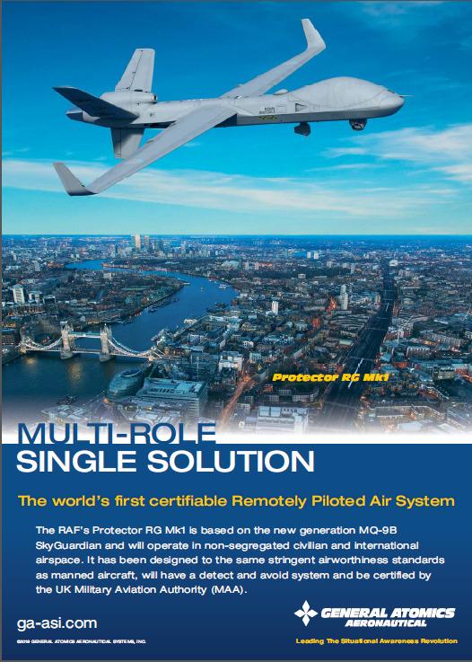 Die Collage zeigt eine Drohne über London.