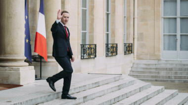 Mark Zuckerberg im Élysée-Palast