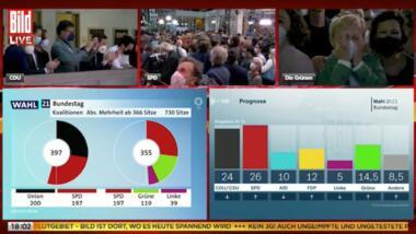 Screenshot Bild TV überträgt ARD und ZDF