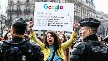 Protests against Google in France