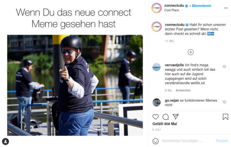 Screenshot eines CDU-Connect-Memes
