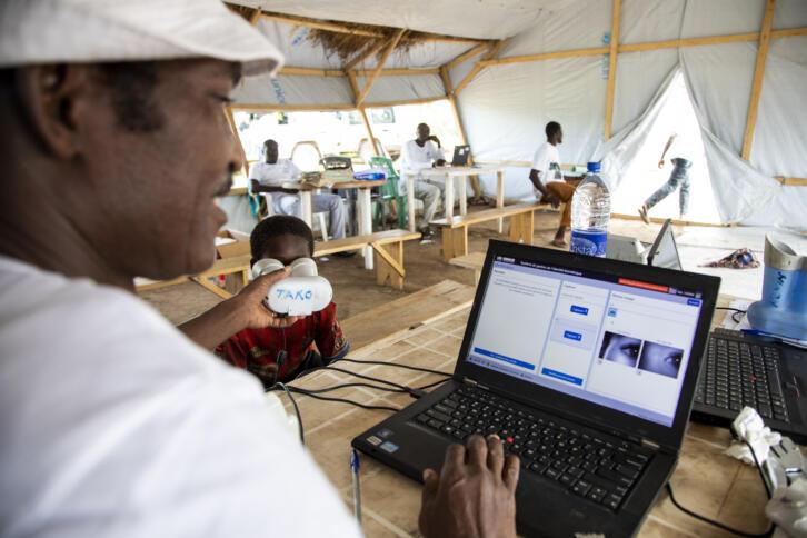 Geflüchtete werden biometrisch registriert