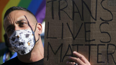 Proteste an der Netflix-Zentrale gegen Transphobie