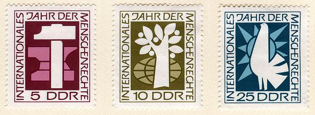 DDR-Briefmare Menschenrechte