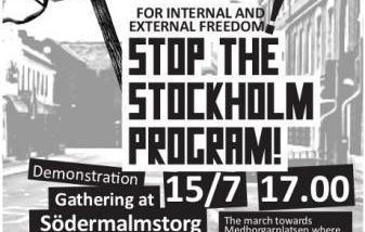 """Aufruf zur Demonstration gegen das """"Stockholm Programm"""" (Stockholm, 2009)"""