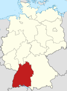 Baden-Württemberg. Karte: CC-BY-SA 3.0 TUBS / Wikipedia