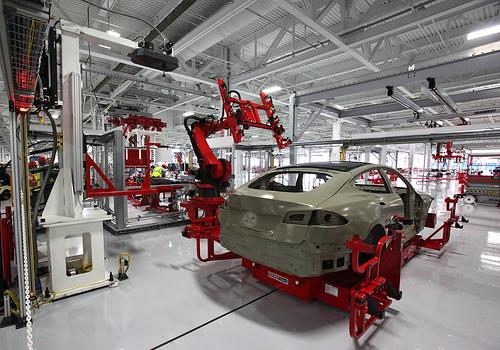 robots build self-driving car