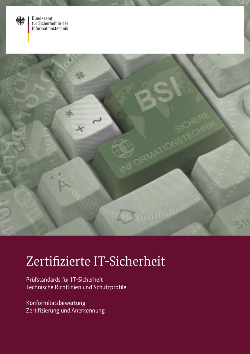 BSI: Zertifizierte-IT-Sicherheit.