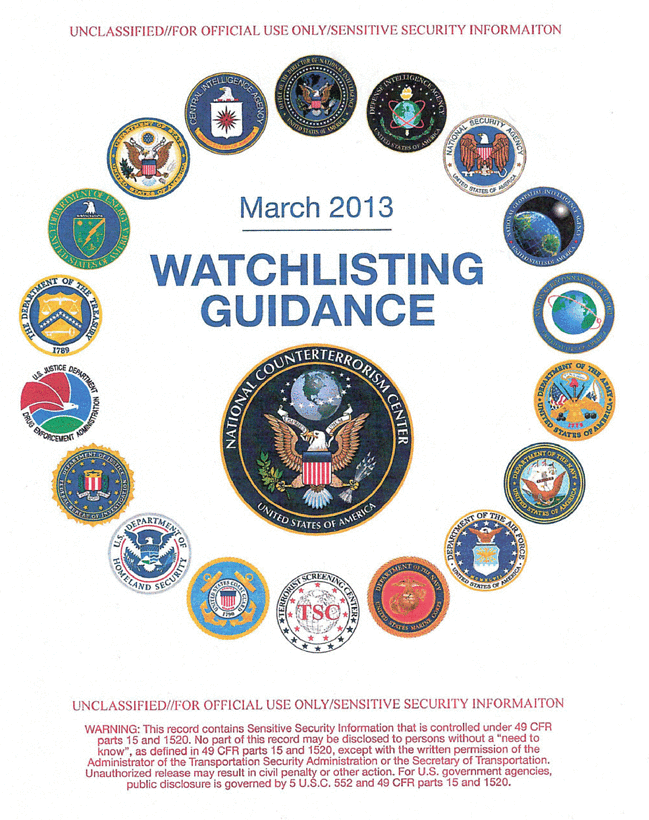 watchlisting guidance usa