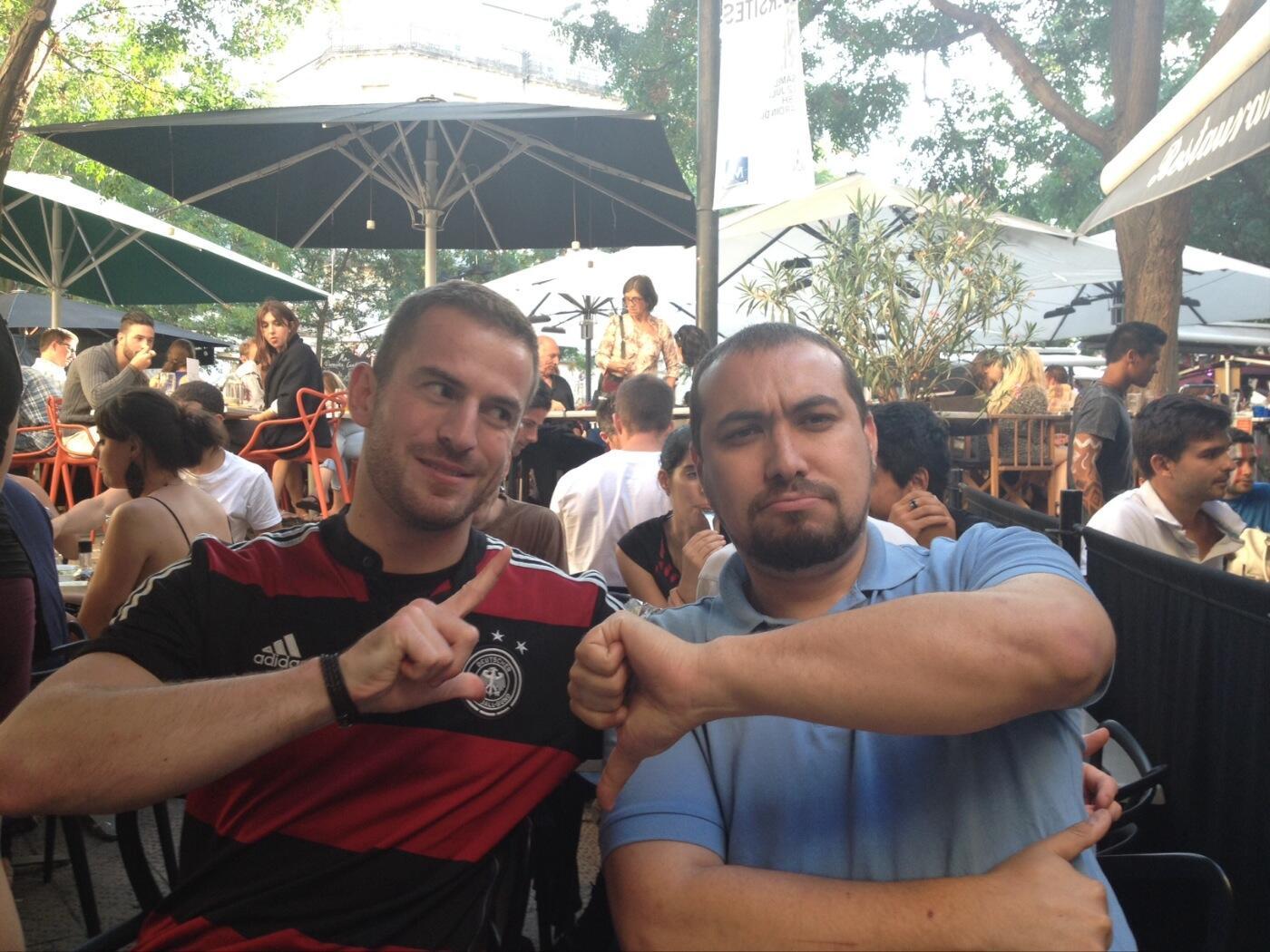 Really close: Martin Münch (Gamma) and Chaouki Bekrar (VUPEN) last month. Source: @cBekrar.