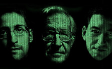 Edward Snowden, Noam Chomsky und Glenn Greenwald (Bild: University of Arizona)