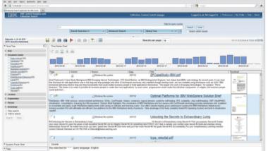 """Screenshot der Anwendung """"Content Analytics"""" von IBM, die jetzt für die Bundeswehr fit gemacht wird"""