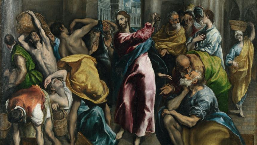 """Wäre wohl mit dem PHW """"gewalttätig"""" versehen worden: Jesus, wie er die Kaufleute aus dem Tempel wirft. (Bild: Wikipedia)"""