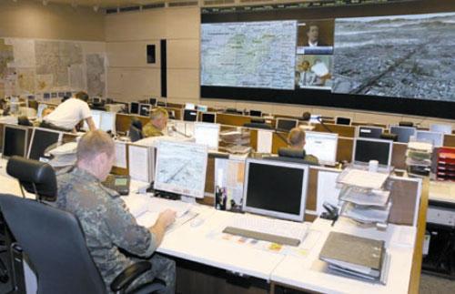 """""""Führungsinformationssystem"""" der Bundeswehr. Hier sollen Ergebnisse der Analyse von Sozialen Netzwerken eingepflegt werden."""