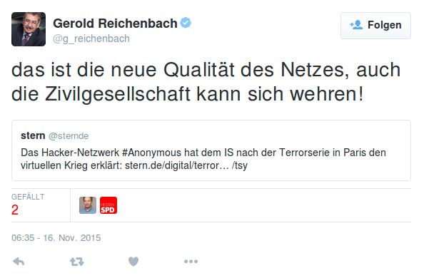 Gerold Reichenbach auf Twitter