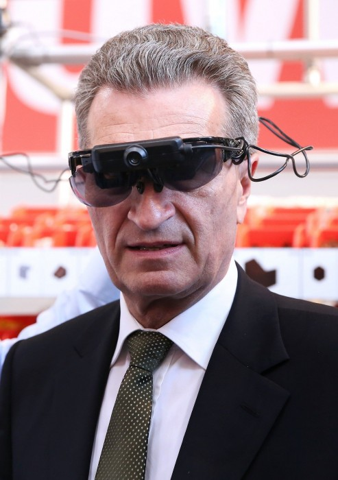 Günter Oettinger auf der Hannovermesse Quelle: European Commission, Audiovisual Services
