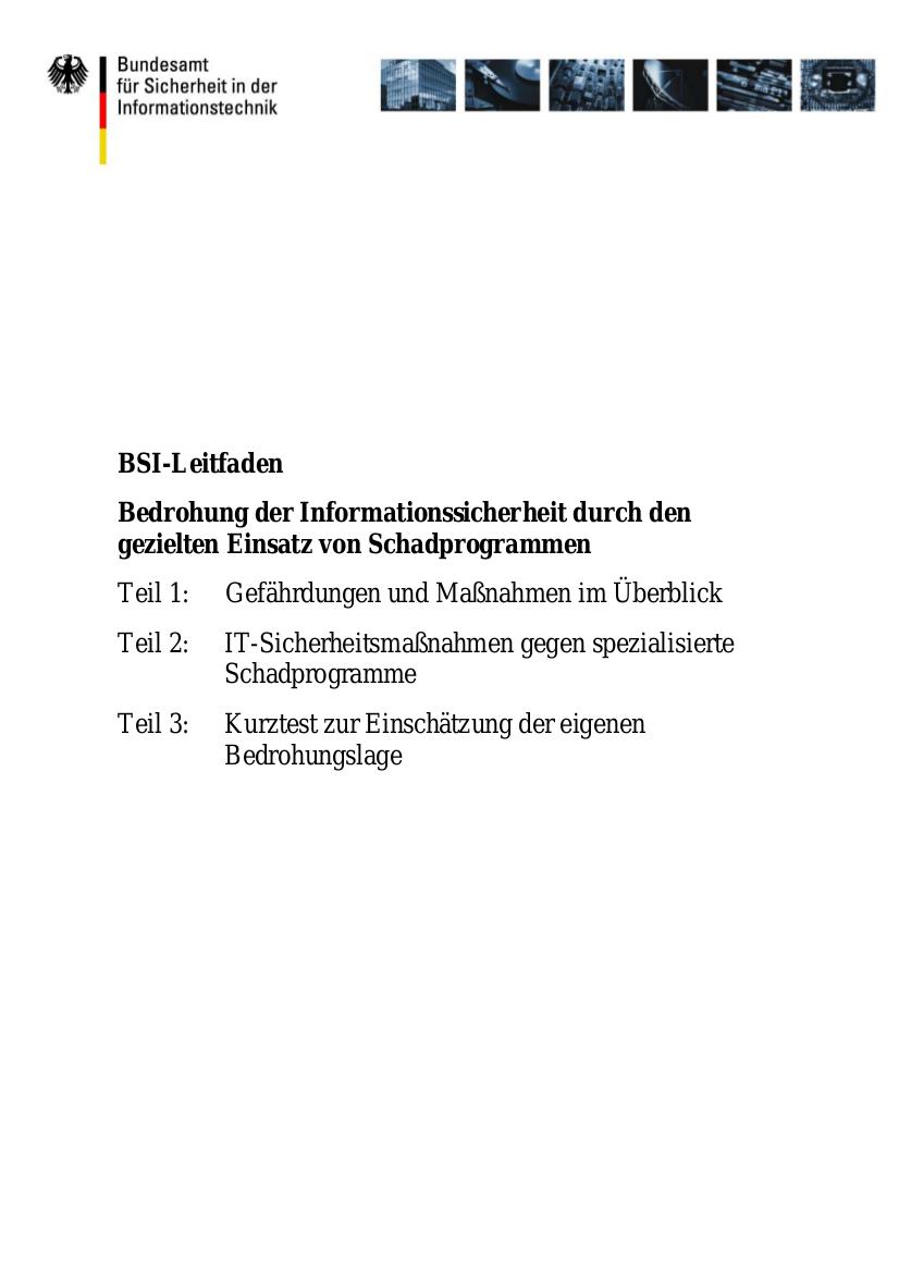 Deckblatt des Leitfadens.