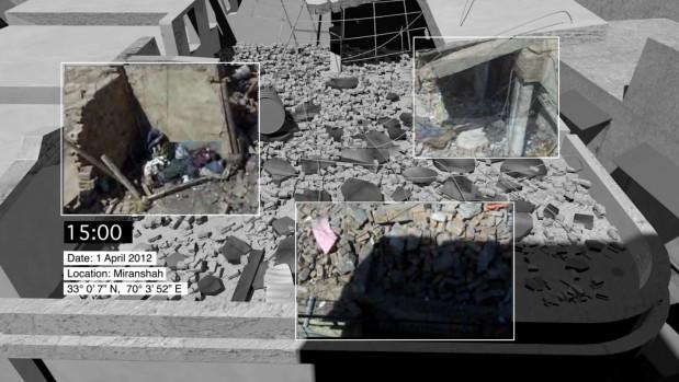 """""""Forensische Architektur"""" zu einem Angriff in Miranshah, Pakistan"""