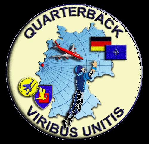 """Das Wappen des zivil-militärischen """"Nationalen Lage- und Führungszentrums für Sicherheit im Luftraum"""" im Niederrheinischen. Dort wusste man zuerst von den möglicherweise ursächlichen NATO-Manövern."""