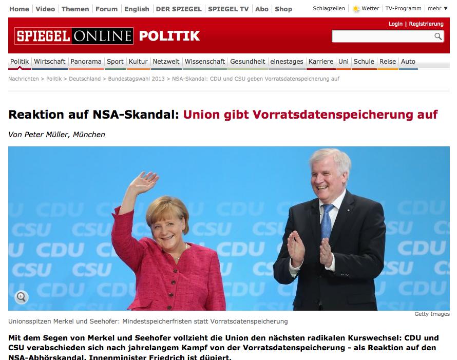 NSA-Skandal: CDU und CSU geben Vorratsdatenspeicherung auf - SPIEGEL ONLINE 2013-07-05 09-45-59