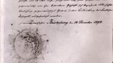 Eine Patentschrift des Fürsts für den Hoflieferanten Carl Frerichs