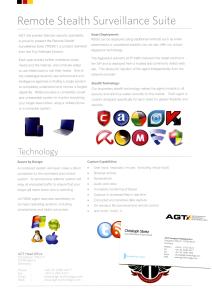 """""""Remote Stealth Surveillance Suite"""" leaflet."""