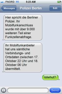 Benachrichtigung per SMS (Symbolbild)