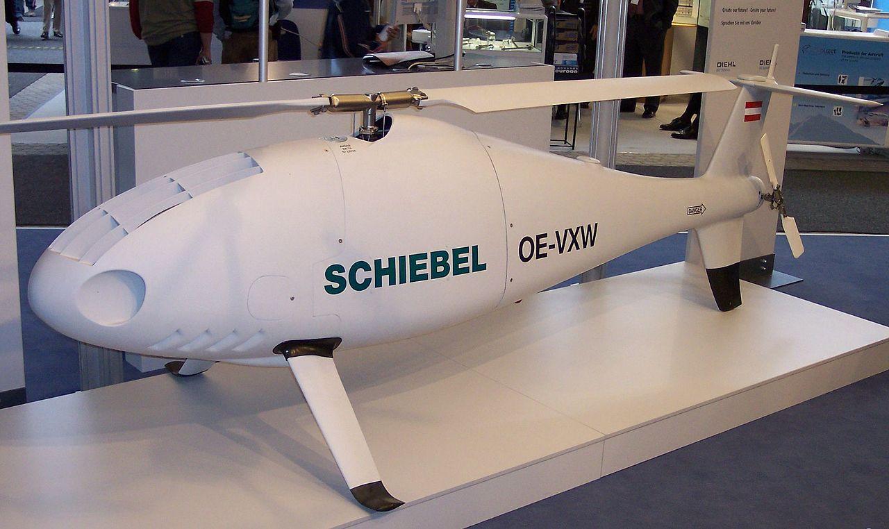"""Der Senkrechtstarter """"Camcopter"""" von Schiebel."""