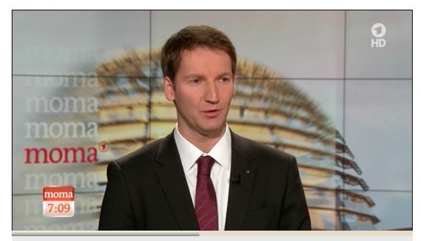 Screenshot: Vorsitzender des NSA-Untersuchungsausschusses Patrick Sensburg im ARD-Morgenmagazin