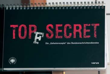 Auch geheim: Kochbuch des BND.