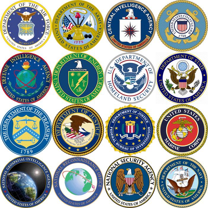 Die Mitglieder der US Intelligence Community.