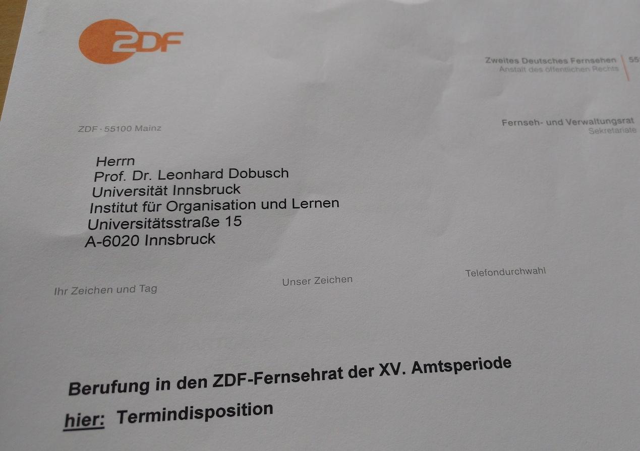 ZDF-Fernsehrat-Berufung