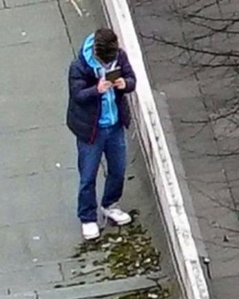 Fahndungsfoto der Berliner Polizei (mit Unkenntlichmachung).