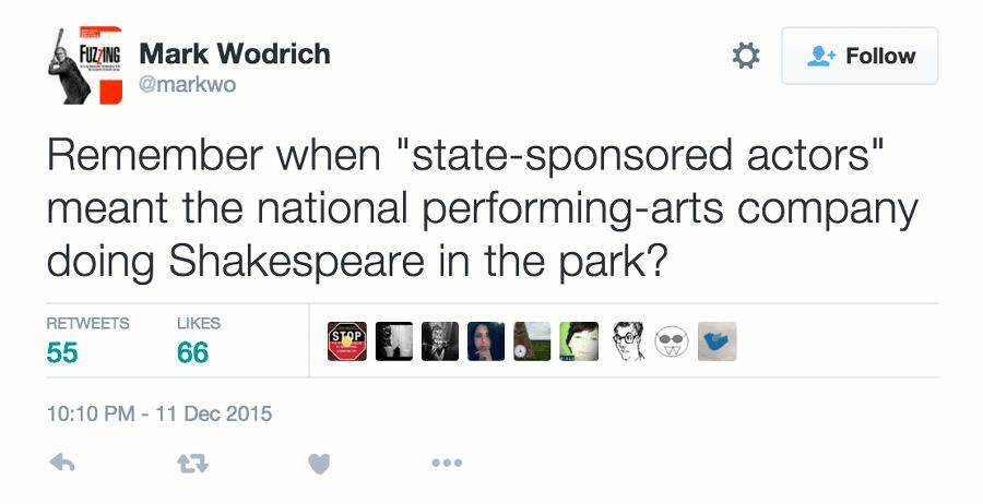 state sponsors actors