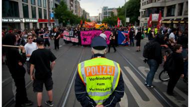 Demonstration gegen G8-Gipfel in Berlin. (Bild: Montecruzfoto)