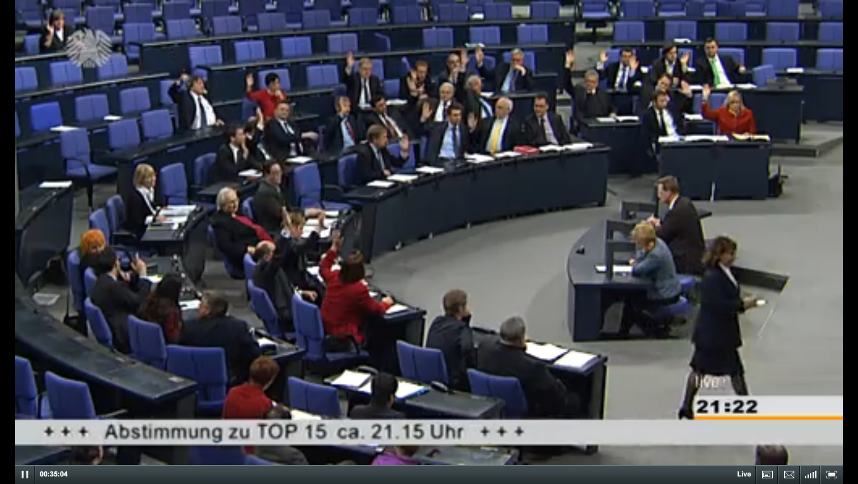 Bundestag beschließt Bestandsdatenauskunft 2013.