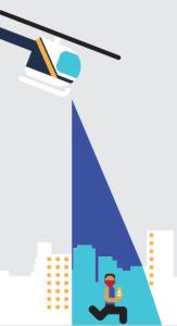"""Illustration aus einer Infobroschüre zu """"Blue Crush"""""""
