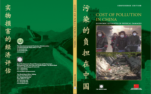 Cover Studie Worldbank: Cost of Pollution in China. Economic Estimates of physical damages. Conference Edition. February 2007.