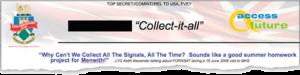 Zitat des NSA-Chefs Keith B. Alexander in Großbritannien.
